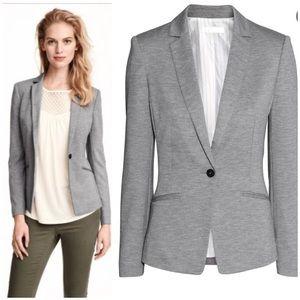 H&M Fitted Jersey Blazer